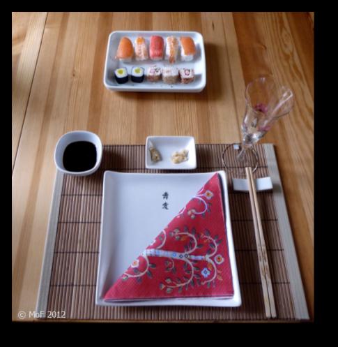 Sushi-middag